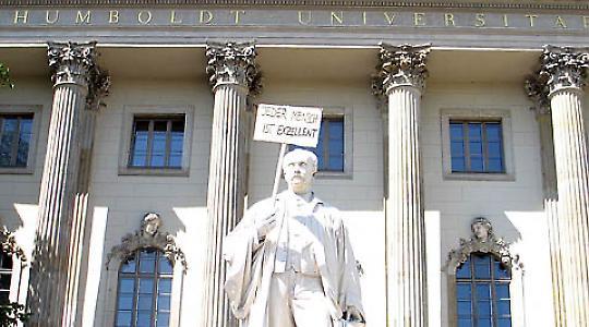 Während der Studentenproteste 2009