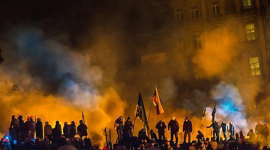 Ende Januar 2014 auf dem Platz der Unabhängigkeit in Kiew
