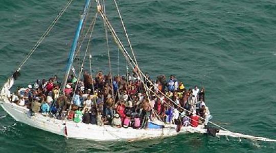 Migranten auf dem Weg nach Europa in Seenot <br/>Foto von noborder network