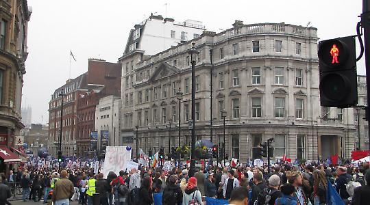 Proteste Ende März in London <br/>Foto von psmckiernan