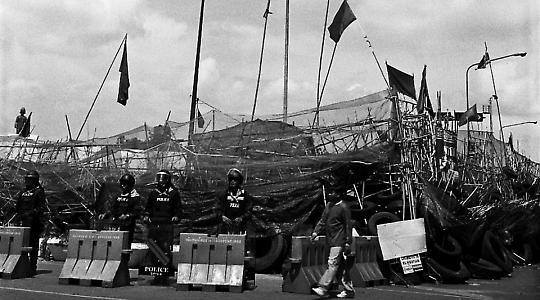 An der Barrikade <br/>Foto von Ronn ashore