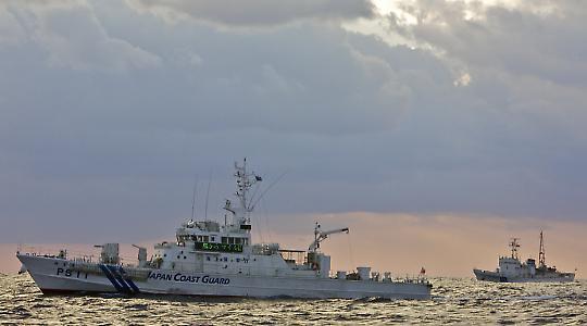 Japanische Küstenwache im Gebiet der Senkaku-Inseln