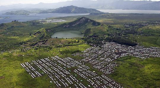 Flüchtlingslager in Nord-Kivu im Kongo