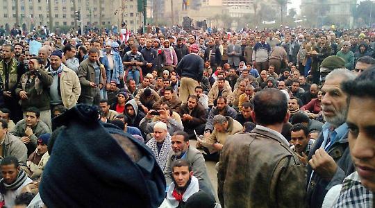 Auf dem Platz der Befreiung <br/>Foto von Mahmoud Saber