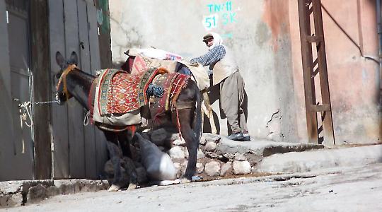 Straßenszene in Mardin <br/>Foto von Axel Weipert