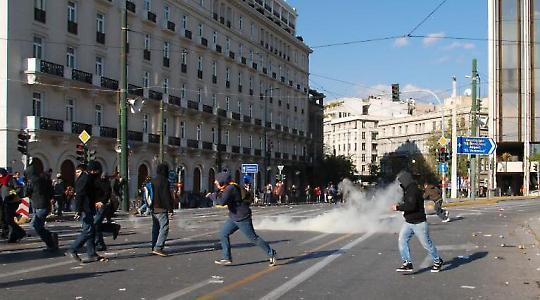 Protest in Athen im Dezember 2008 <br/>Foto von Sotiris Farmakidis, Flickr