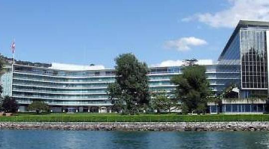 Nestlés Hauptsitz in Vevey, Schweiz <br/>Foto von twinga269
