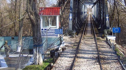 Die europäische Antwort auf Einwanderung: Stacheldraht an der EU-Außengrenze Griechenlands zur Türkei