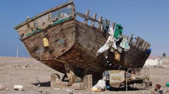 Schiffswrack im Norden Somalias <br/>Foto von Charles Fred