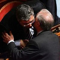 Wegen Mafiaverbindungen verurteilt: Salvatore Cuffaro und Berlusconis rechte Hand Marcello Dell'Utri <br/>Foto von lucacicca