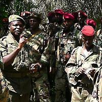 Offiziere des guineischen Militärs <br/>Foto von Joseph N. Lomangino