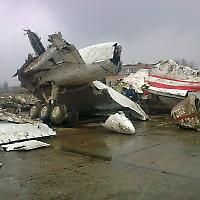 Reste der abgestürzten Tupolew <br/>Foto von Elcommendante