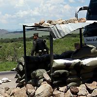 Militärposten in Nordmexiko