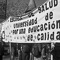 Protest in Santiago