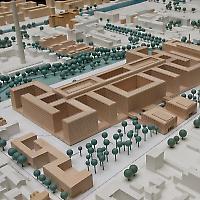 Modell des neuen Hauptquartiers in Berlin Mitte