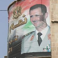 Assad-Banner in Damaskus <br/>Foto von spdl_n1