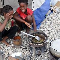 Leben in Zelten <br/>Foto von US Aid